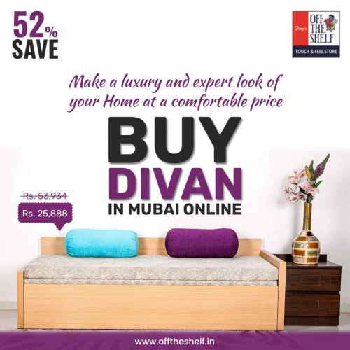 Buy Divan in Mumbai Online @ Offtheshelf shop. Shop from latest design of furniture Online in India at unbeatable prices. We are leading manufactures in the Sofa Cum Beds at Mumbai. Get best discounts & offers on every order, which makes you very exciting & will give a great look on your home.   Get awesome Home Furniture's, Wooden Beds, Sofa Cum Bed, Wooden Wardrobe, Divans etc., & all type of furniture what you expect. Grab the great deals!!  Website: https://offtheshelf.in/  Divans - https://offtheshelf.in/collections/divans