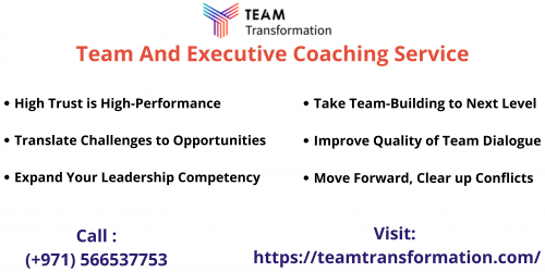 Experienced coaches provide an envisioned, practical approach to facilitate sustainable, productive team transitions. Reach Team Transformation to know more about their executive coaching services. Call: +971566629001.